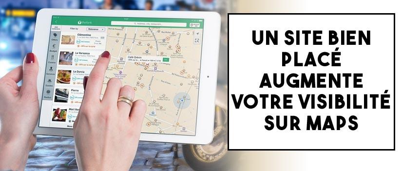 Un site bien positionné améliore votre ranking sur Google maps