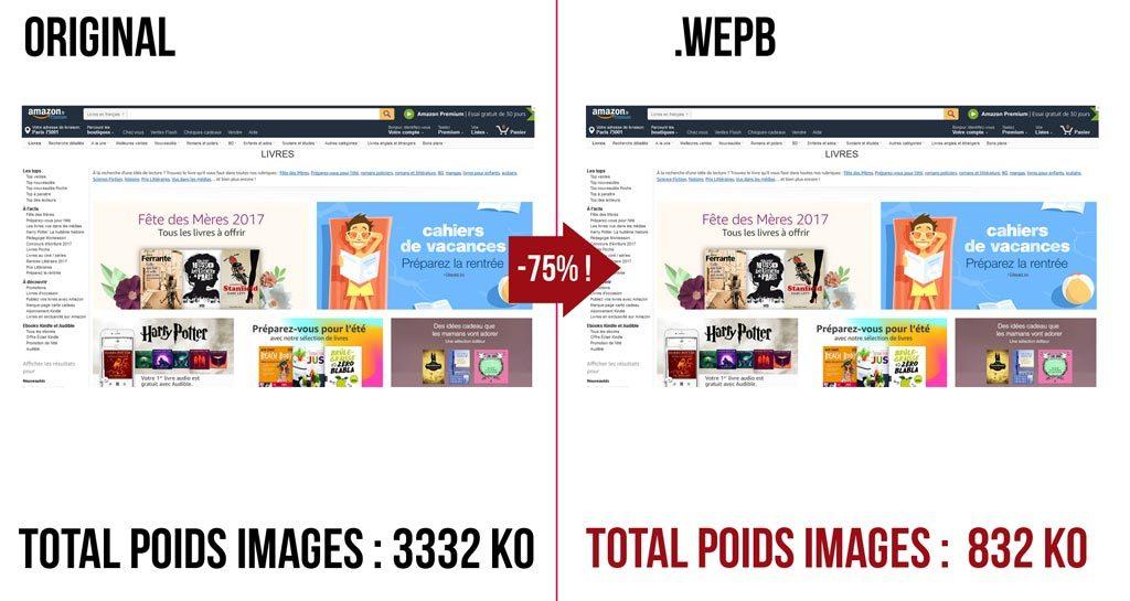 webp test amazon