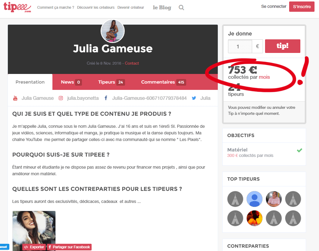 julia gameuse youtubeuse
