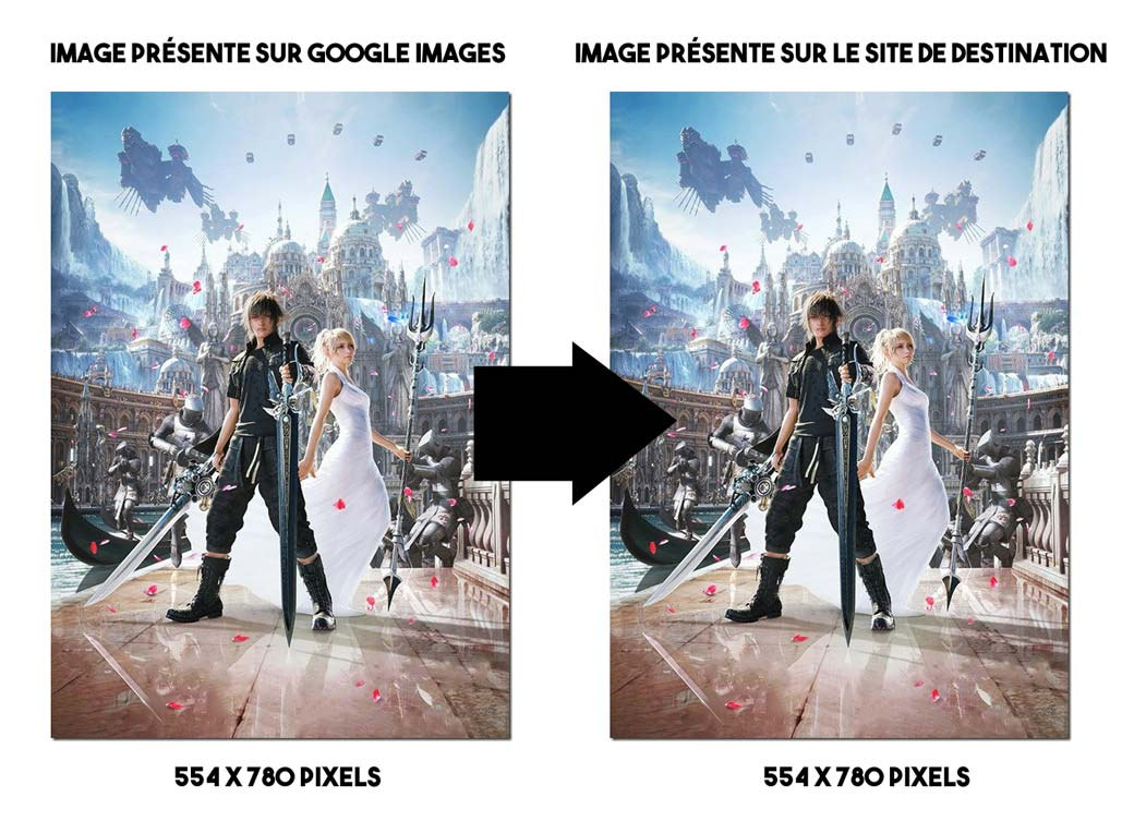comparatif tailles images google