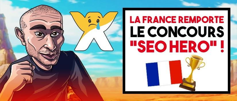 La France remporte le Concours Seo Hero ! Et comment j'ai fait pour apparaître en 1ere page…