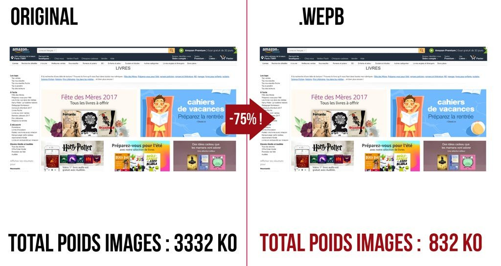webp test amazon