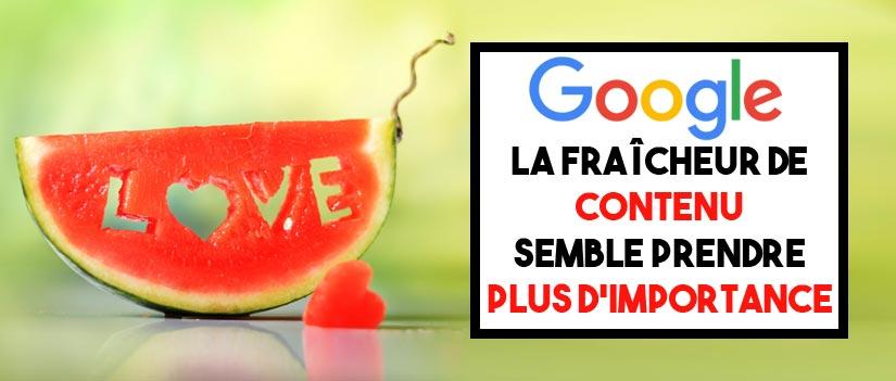 SEO : La fraicheur de l'info semble avoir pris plus d'importance pour Google