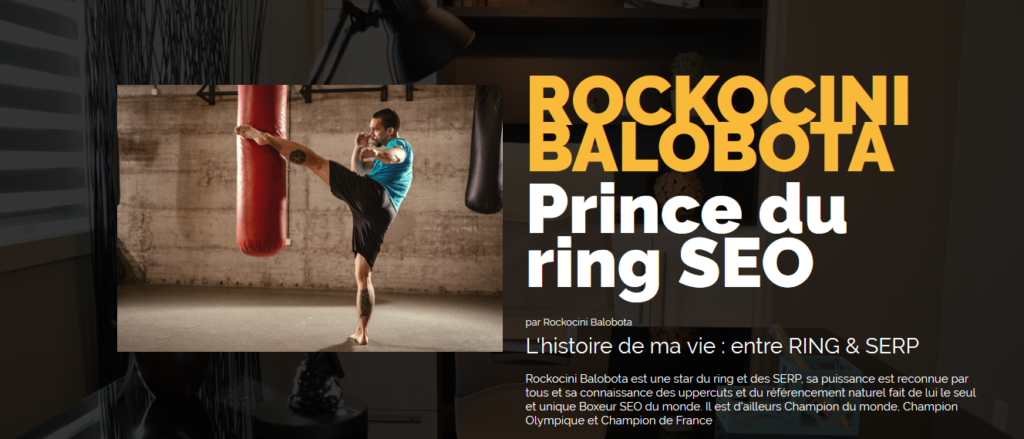 ROCKOCINI BALOBOTA Prince du ring SEO